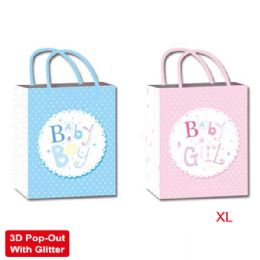 """72 Units of Baby bag 3D 13x18x5.5""""/X L arge - Gift Bags"""
