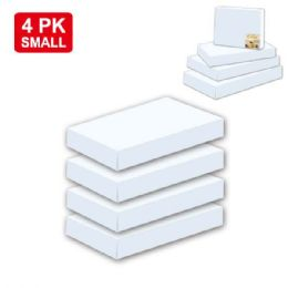 """96 Units of 4 Piece box white 11x8.25x1.5""""/Small - Gift Bags"""