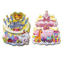 96 Units of 3d Birthday Cutout - Party Banners