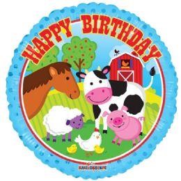 125 Units of One Sided Farm Animals Happy Birthday Helium Balloon - Balloons & Balloon Holder