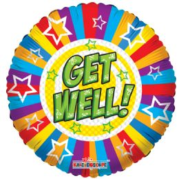125 Units of One Side Get Well Stars And Lines Balloon - Balloons & Balloon Holder