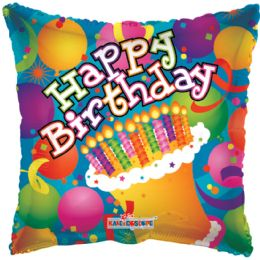 125 Units of One Sided Happy Birthday Helium Balloon - Balloons & Balloon Holder