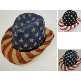24 Units of Flag Cowboy Hat [Hatband with Stars] - Cowboy & Boonie Hat