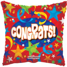 "125 Units of 2-side ""congrats"" Balloons - Balloons/Balloon Holder"