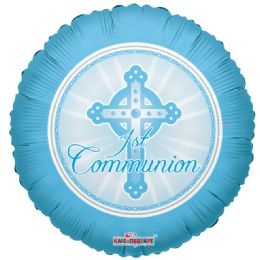 "125 Units of 2-side ""communion"" blue Balloon"