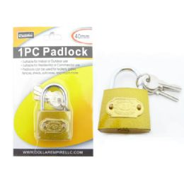 72 Units of 40mm Brass Lock With 2 Keys - Hardware Products