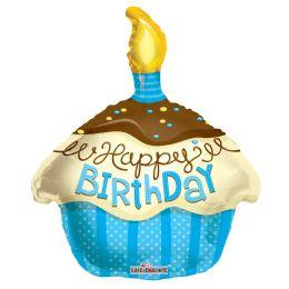 "100 Units of 2-side 18"" ""Happy BIrthday"" shaped Balloon - Balloons/Balloon Holder"