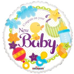 "125 Units of 2-side ""new baby"" Balloon"