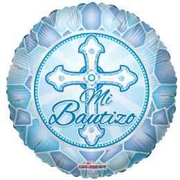 """125 Units of 2-side """"mi bautizo"""" blue Balloon - Balloons/Balloon Holder"""