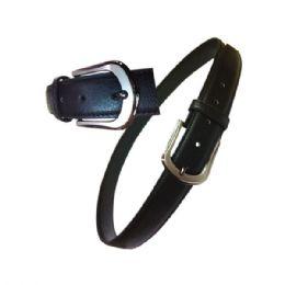 60 Units of Men's Black Belt Assorted Size - Mens Belts