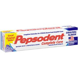 72 Units of Pepsodent Complete 5.5 Oz. - Toothbrushes and Toothpaste