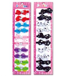 96 Units of 10 Count kid's hair clip - Hair Accessories