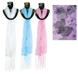 "96 Units of Scarf Assorted Colors 20x60"" - Womens Fashion Scarves"