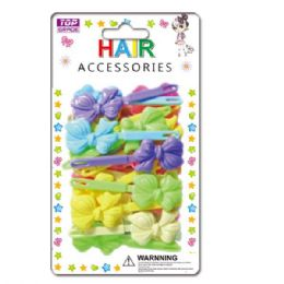 144 Units of Hair Clips with Bow - Hair Accessories