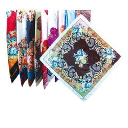 144 Units of Silk Scarf 4.5x4.5 Feet - Womens Fashion Scarves
