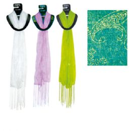 "69 Units of Scarf Assorted Colors 20x60"" - Womens Fashion Scarves"