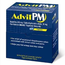 4 Units of Advil PM 50 Count - Pain and Allergy Relief