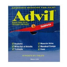 5 Units of Advil regular 50 count - Pain and Allergy Relief