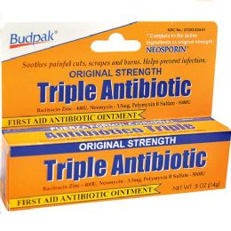 92 Units of Budpak 3x Antibiotic 0.5oz - Skin Care