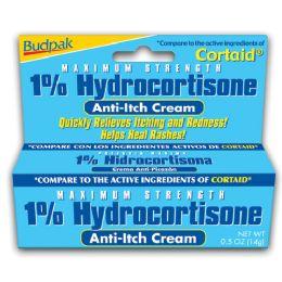 72 Units of Budpak 1% Hydrocartisone 0.5oz - Skin Care