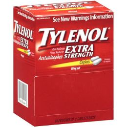 6 Units of Tylenol extra strength 50 count - Pain and Allergy Relief