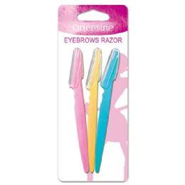 144 Units of Three Piece Eyebrow Razor - Cosmetics