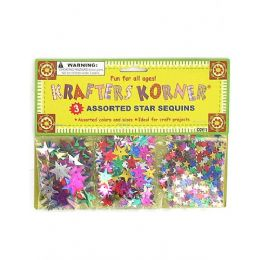 144 Units of Star-shaped craft sequins - Craft Beads