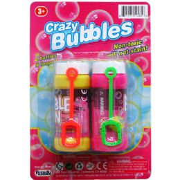 48 Units of Crazy Bubbles Bottles And Loops On Blister Card - Bubbles