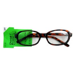 48 Units of Acrylic reading glasses with larger, oval shaped lenses (strength +1.00) - Reading Glasses
