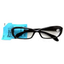 48 Units of Acrylic reading glasses with small, rounded, rectangle shaped lenses (strength +1.50) - Reading Glasses