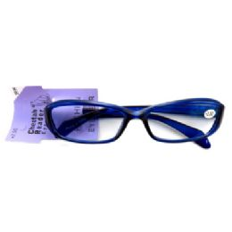 48 Units of Acrylic reading glasses with small, rectangle shaped lenses (strength +2.50) - Reading Glasses