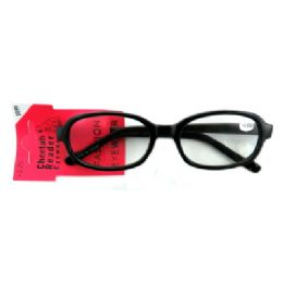48 Units of Acrylic reading glasses with larger, oval shaped lenses (strength +3.25) - Reading Glasses