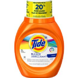 12 Units of Tide Liquid With Bleach - Laundry Detergent