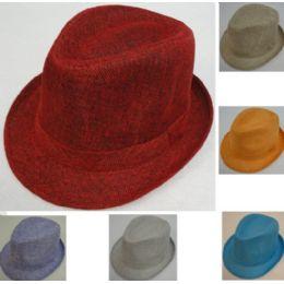 24 Units of Ladies Fedora Hat Solid Color - Fedoras, Driver Caps & Visor