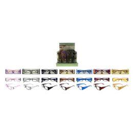 72 Units of Shiny Plastic Reading Glasses - Reading Glasses