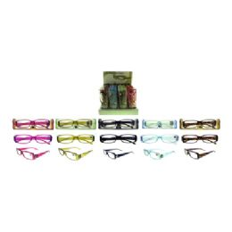72 Units of Ladies Metal Accent Reading Glasses - Reading Glasses