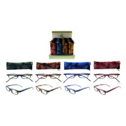72 Units of Grape Vine Reading Glasses With Carry Case - Reading Glasses