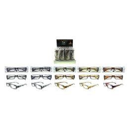 72 Units of Animal print Shiny See-Through Reading Glasses - Reading Glasses