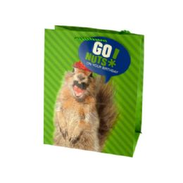 216 Units of Medium Squirrel Birthday Gift Bag - Gift Bags