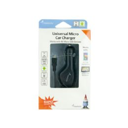 36 Units of Travelocity Black Universal Micro Car Charger - Auto Maintenance