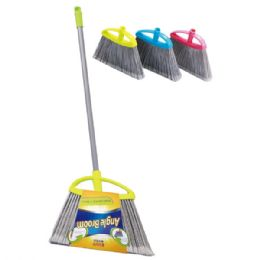 24 Units of Angle broom with 4 foot handle - Cleaning Products