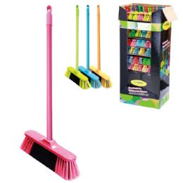 72 Units of Broom With 4 Foot Wooden Handle - Cleaning Products