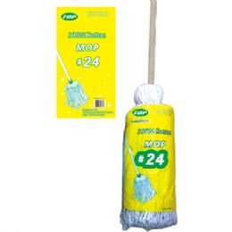24 Units of Cotton mop #24 - Cleaning Products