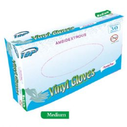 48 Units of 30 Pack vinyl glove/Medium - Latex Gloves