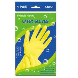 108 Units of Latex Gloves Large - Kitchen Gloves
