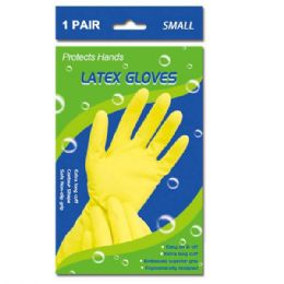 108 Units of Latex Gloves In Small - Kitchen Gloves