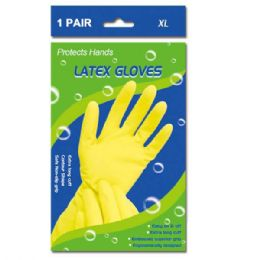 108 Units of Latex Gloves In Extra Large - Kitchen Gloves