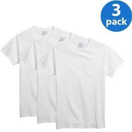 24 Units of FRUIT OF THE LOOM BOY'S 3PK WHITE CRE T-SHIR - SLIGHTLY IMPERFECT - Boys T Shirts