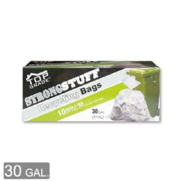 96 Units of Clear Recycle Bag Thirty Gallon Ten Count - Garbage & Storage Bags