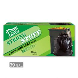 24 Units of Leaf Trash Bag Thirty Nine Gallon Thirty Four Count - Garbage & Storage Bags